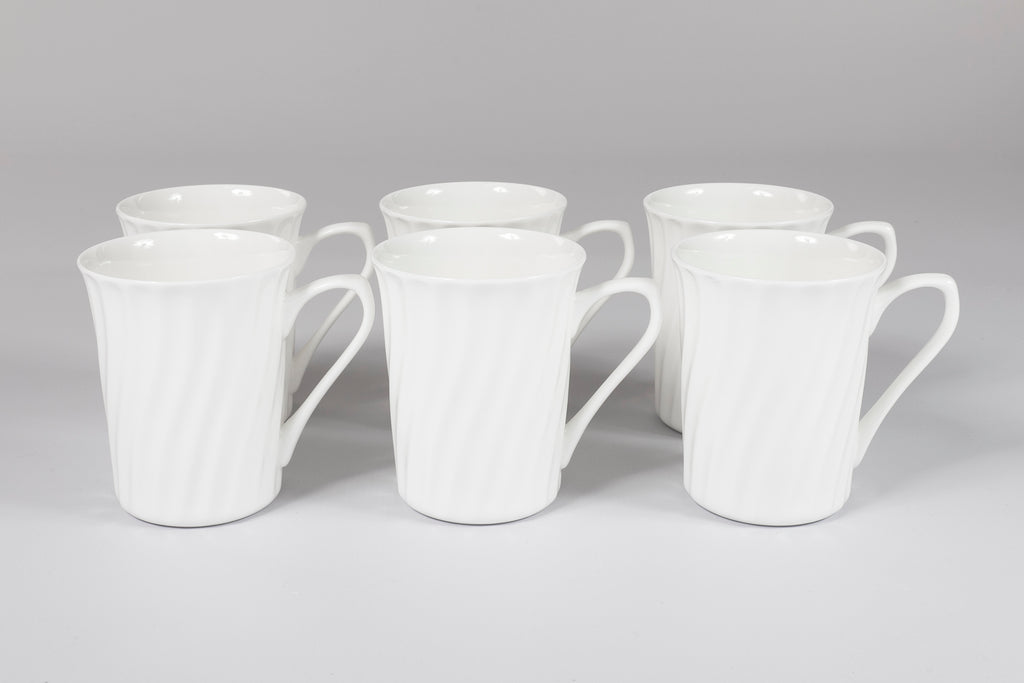 Crescent Set of 6 Mugs