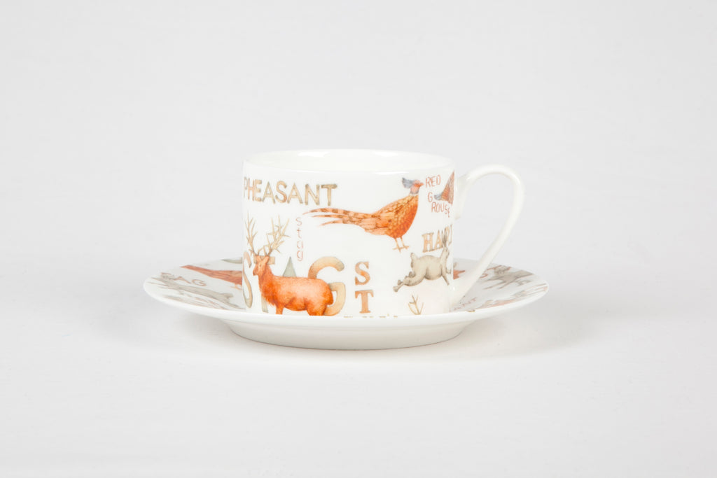 Gamekeeper Straight Cup and Saucer gift box of 4