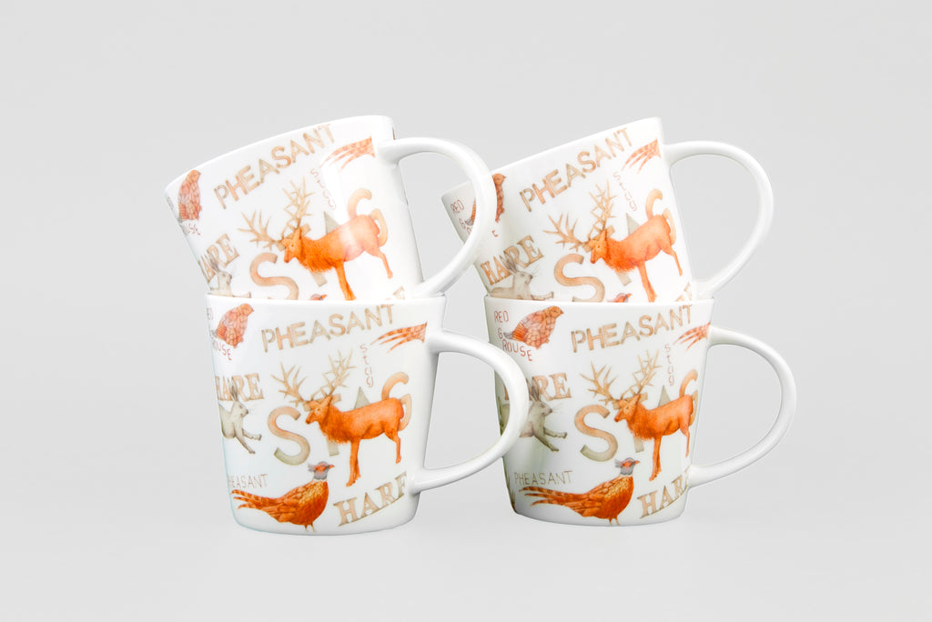 Gamekeeper Conical Mugs gift box of 4