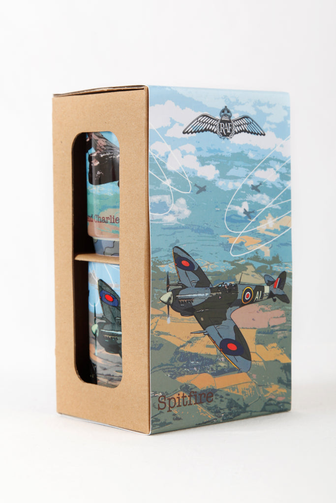 RAF Spitfire & Lancaster Mugs Giftboxed