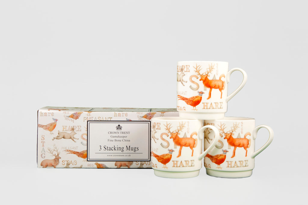 Gamekeeper Stacking Mugs Gift Box Of 3