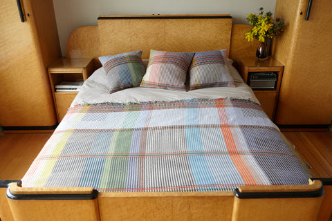 """Wollstonecraft"" Lambswool Pinstripe Throw"