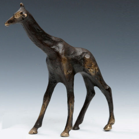 Cast Bronze Giraffe