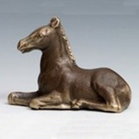 Cast Bronze Reclining Pony