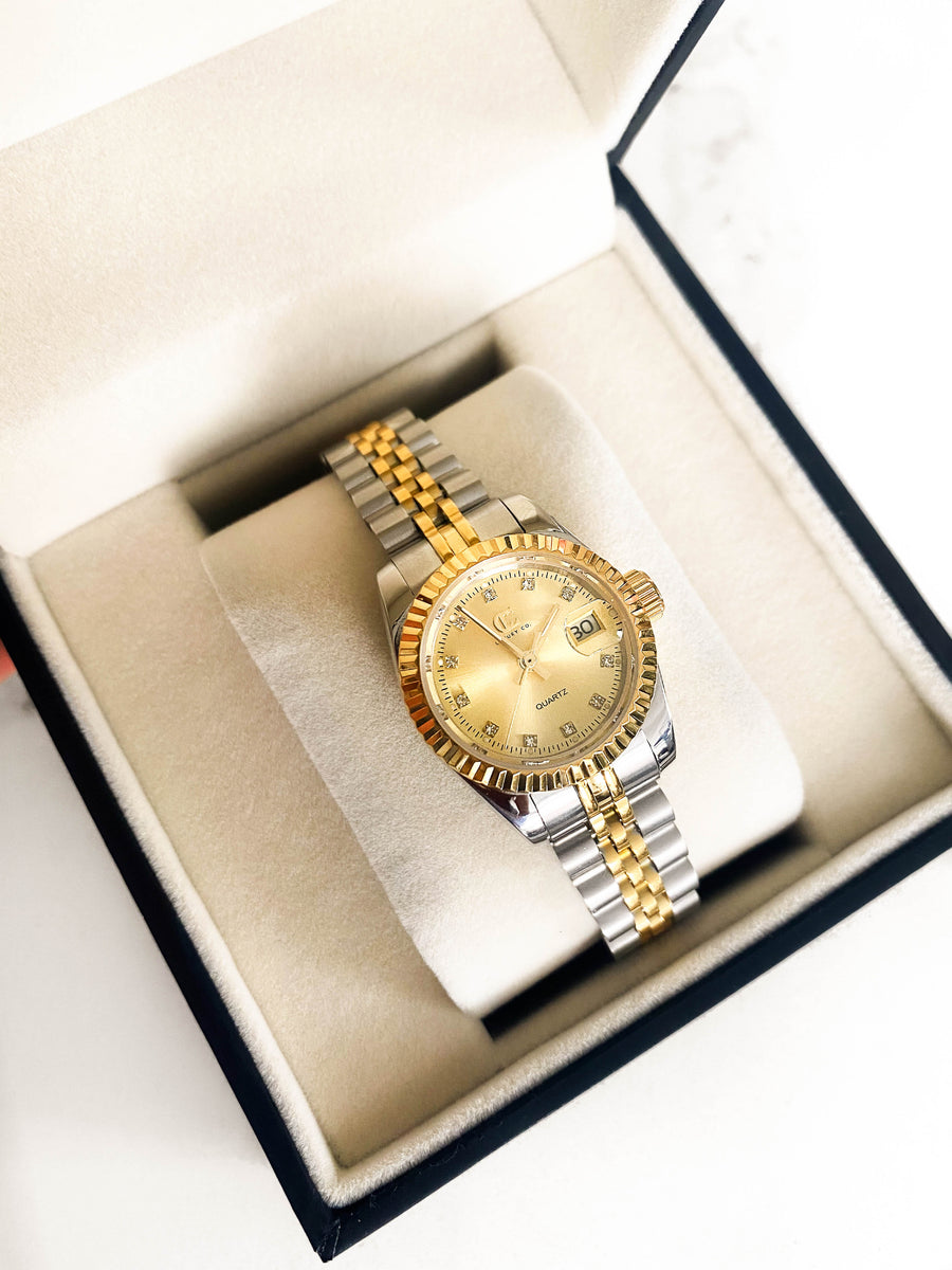 CC CLASSIC WATCH - TWO TONE + GOLD