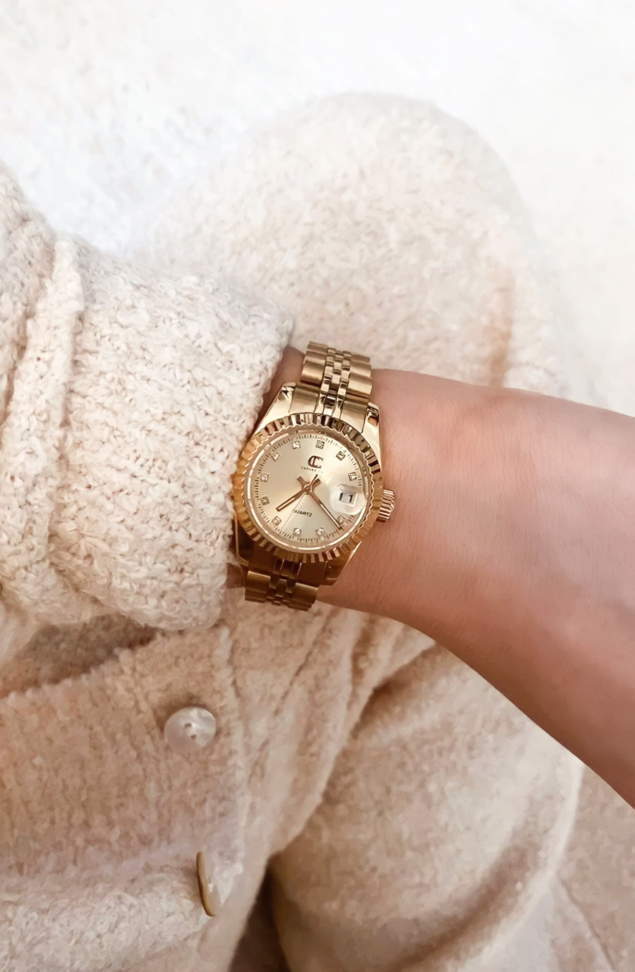 CC CLASSIC WATCH - GOLD + GOLD