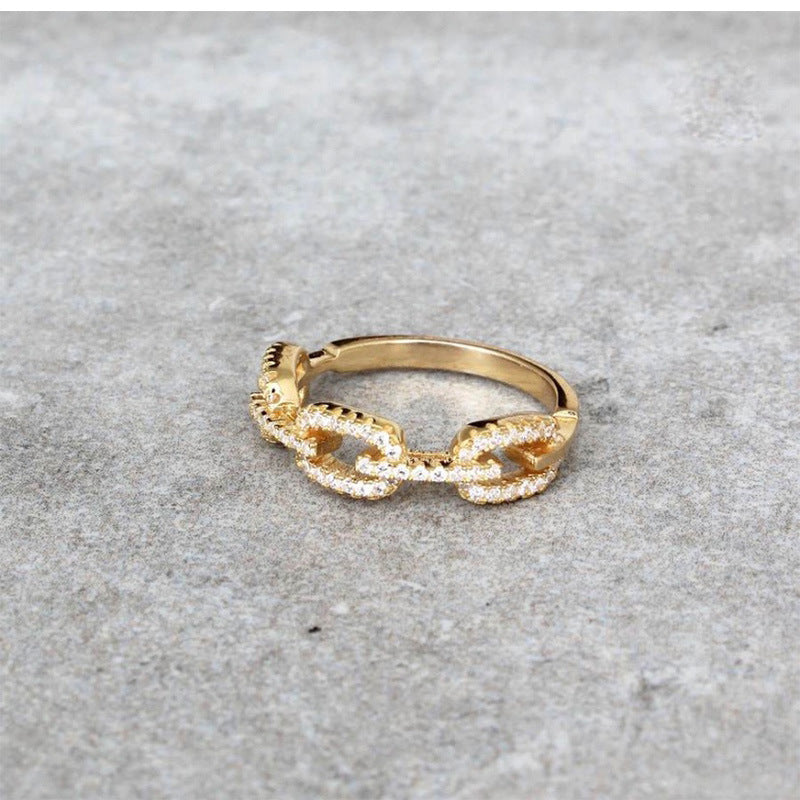 Diamond Vintage Link Ring