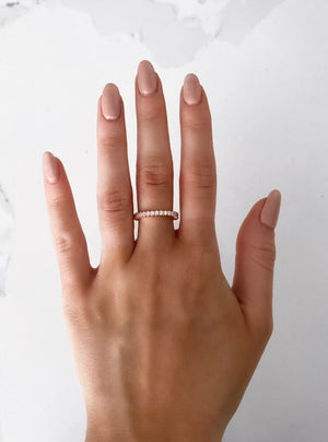 ROSE GOLD DELUXE ETERNITY BAND