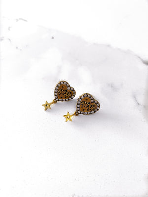 AMOUR HEART EARRINGS