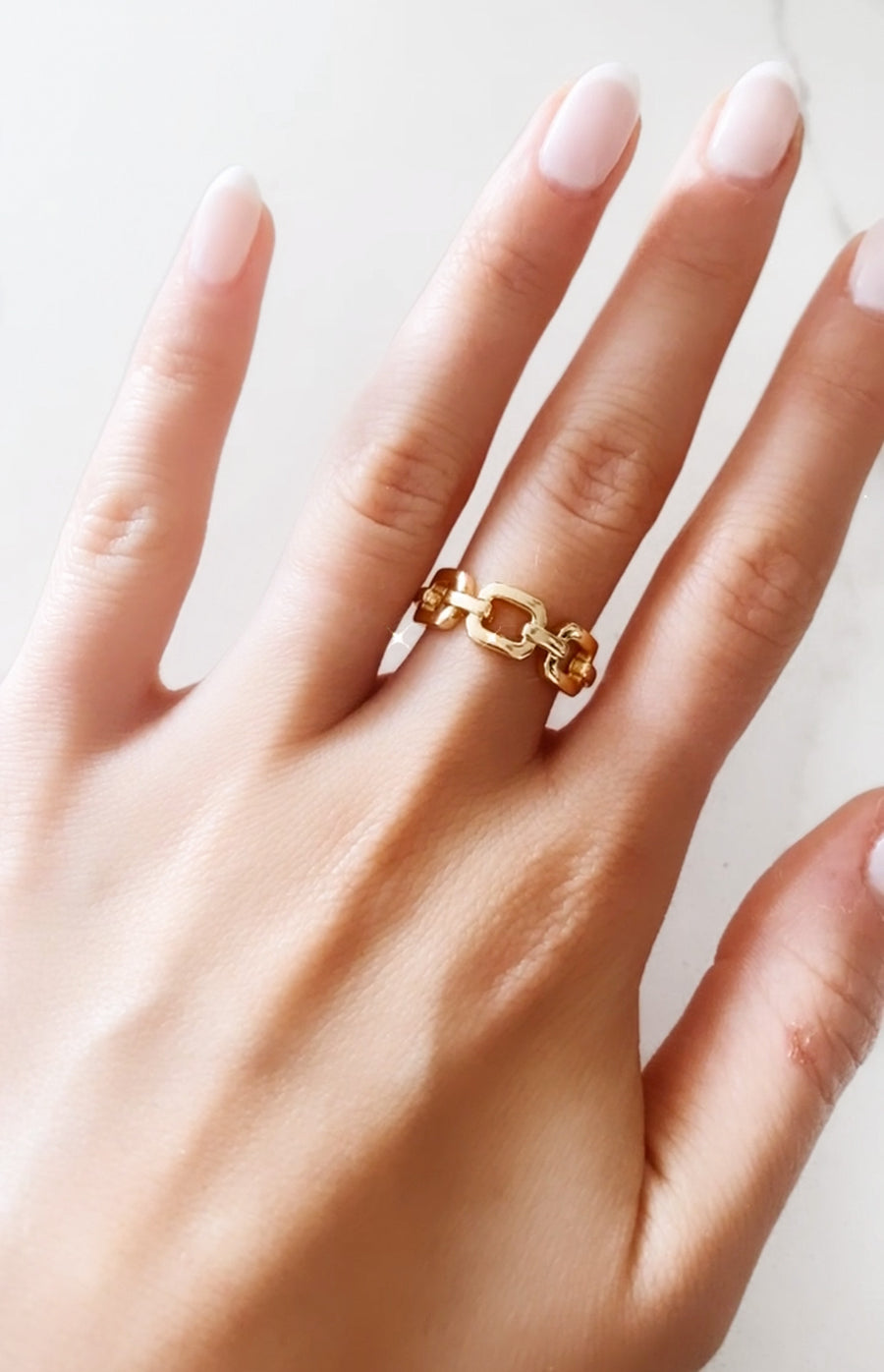 GOLD FILLED CHAIN RING