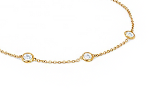 THE TRIPLE DIAMOND BRACELET - THE DAINTY COLLECTION (GOLD + SILVER)