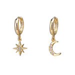 MOON + STAR EARRINGS