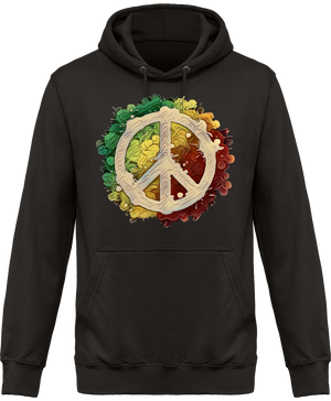 Sweat Shirt à Capuche Unisex Peace and Love