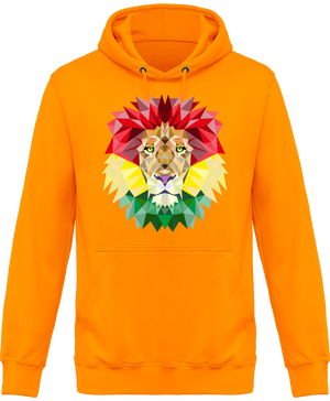 Sweat Shirt à Capuche Unisex Rastafari Lion