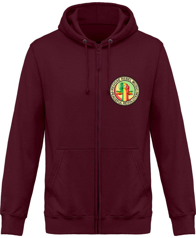 Sweat Shirt Zippé Capuche Reggae Rebel Music