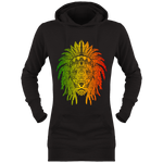 Sweat Long à Capuche Femme Indian Rastafari Lion