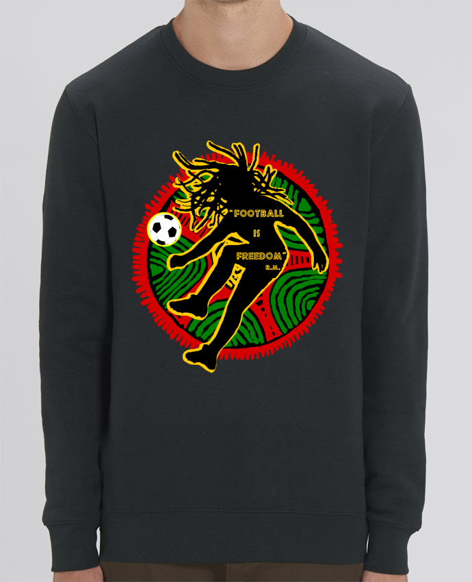 Sweat Col rond Unisex Football is Freedom