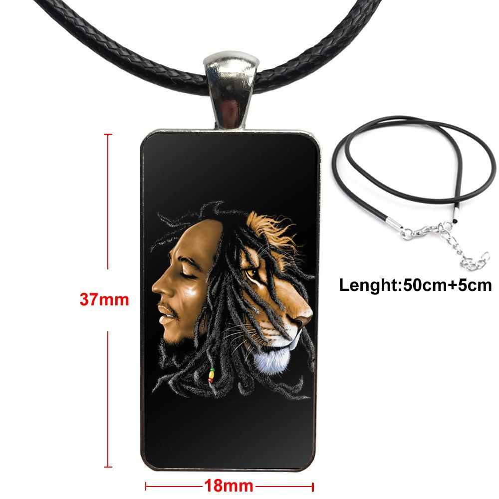 collier bob marley - l'homme lion