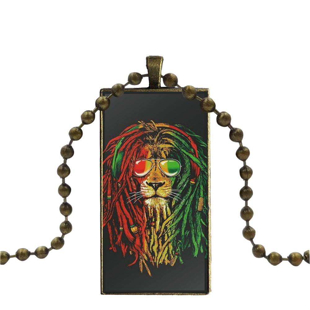 collier lion rastafari