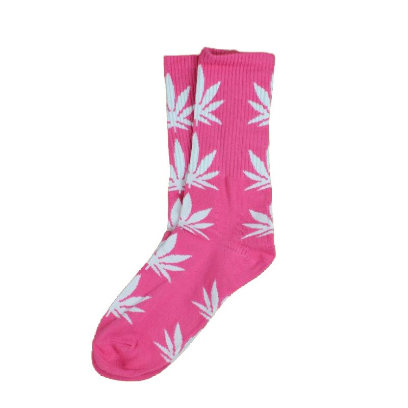 chaussettes cannabis rose