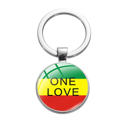 porte cles rasta - one love