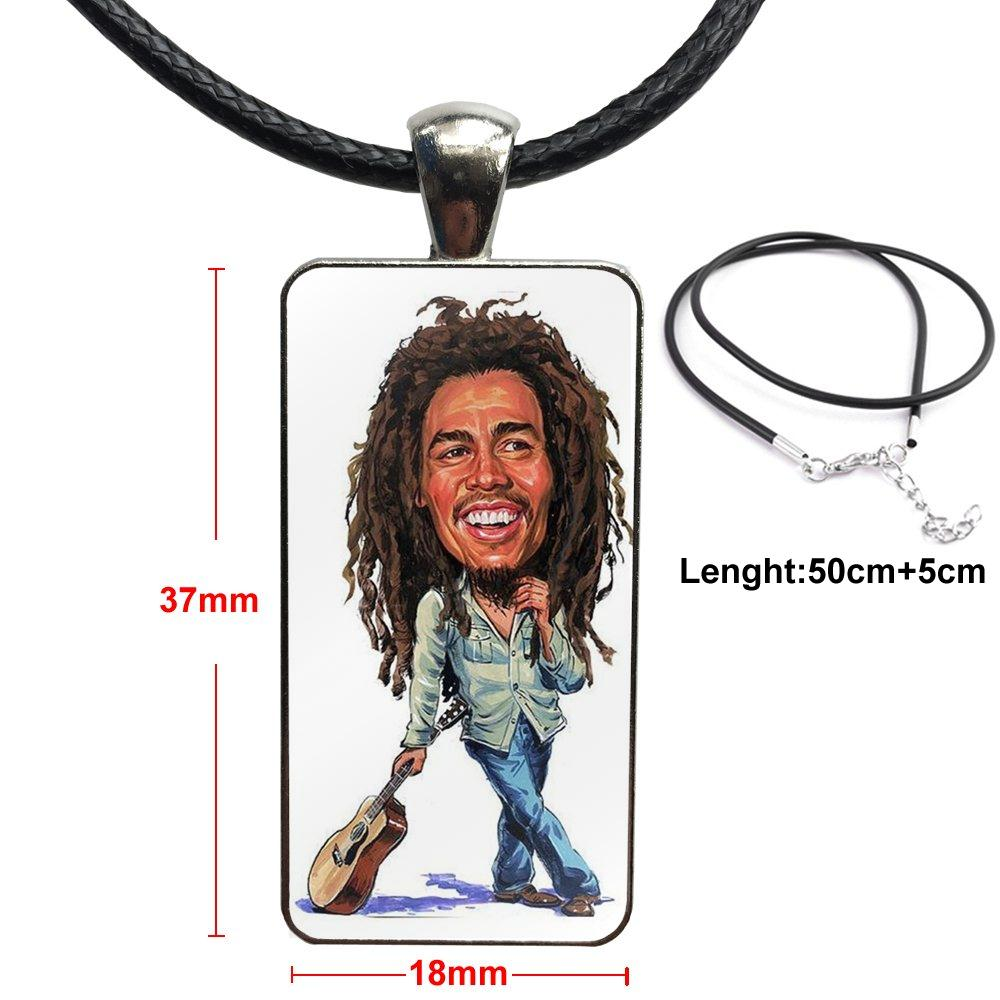 collier bob marley - caricature
