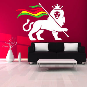 Sticker Mural - Rastafari Lion of Judah
