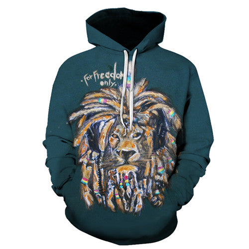 Sweat Shirt à Capuche Unisex Dreadlocks Lion