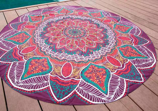 Drap de plage Hippie - Purple