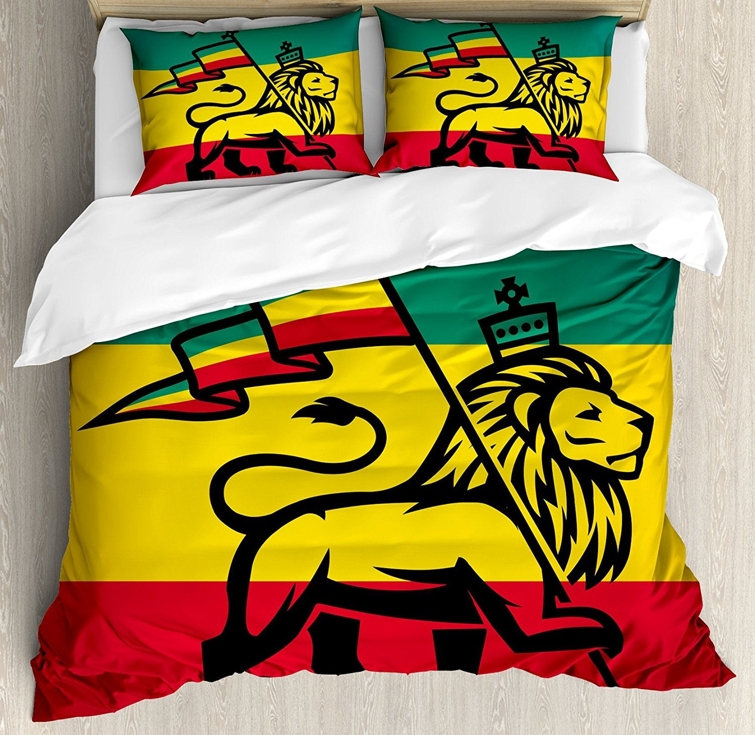 Parure de Lit Rasta - Rastafari King Lion Flag