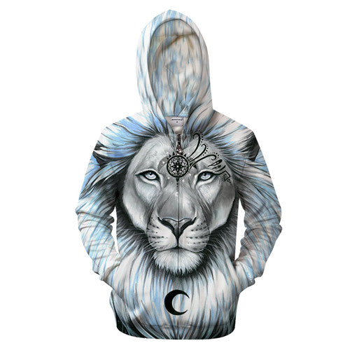 Sweat Shirt Zippé Capuche Mystic Lion