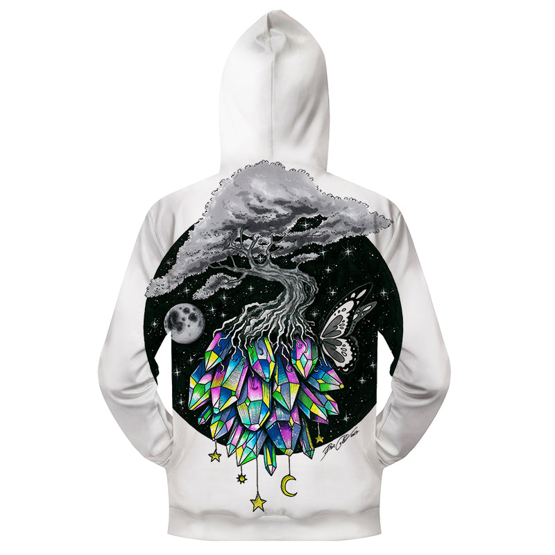 Sweat Shirt Zippé Capuche Mystic Tree