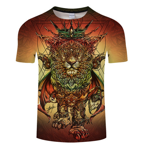 T-Shirt Col Rond Rastafari Lion of Judah