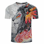 T-Shirt Col Rond Ethnic Lion