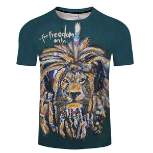 T-Shirt Col Rond Dreadlocks Lion