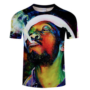 T-Shirt Col Rond Weed Smoker