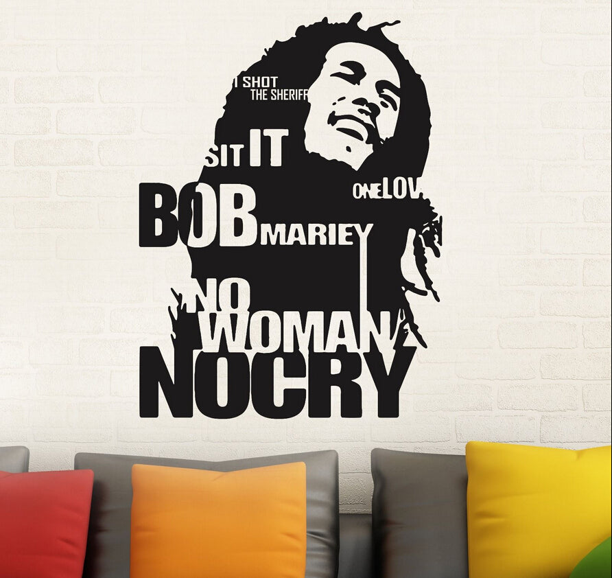 Sticker Mural - Bob Marley Songs | Rastafari Market