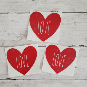 LOVE Rae Dunn Valentine's Day, Rae Dunn Inspired (DECAL only Shipped)