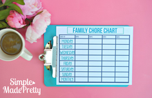 Load image into Gallery viewer, Home Cleaning Cheat Sheet & Chore Chart - PDF