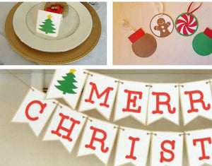 Christmas Decor Printable Package - PDF