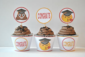 Graduation Emoji Party Printable Package - PDF