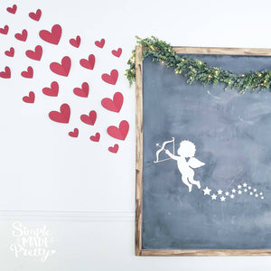 Cupid Stars and Hearts Valentine SVG File (SVG, DXF, EPS, & Png) - Cut File -Cricut, Silhouette