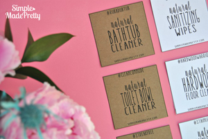 DIY Cleaning Products Cheat Sheets - PDF