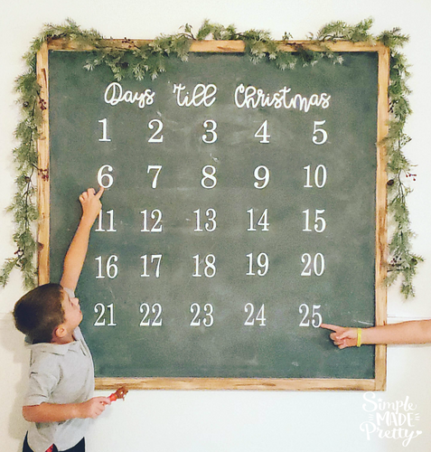 Days 'Till Christmas Sign SVG File (SVG, DXF, EPS, & Png) - Cut File -Cricut, Silhouette