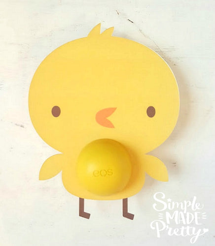 Baby Chick Easter EOS Lip Balm Card - PDF