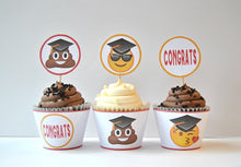 Load image into Gallery viewer, Graduation Emoji Party Printable Package - PDF