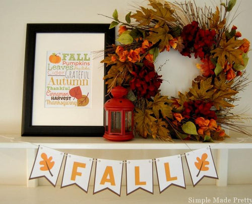 Fall Bunting & Subway Art - PDF
