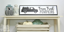 Load image into Gallery viewer, Farm Fresh Pumpkins with Truck SVG File (SVG, DXF, EPS, & Png) - Cut File -Cricut, Silhouette