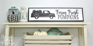 Farm Fresh Pumpkins with Truck SVG File (SVG, DXF, EPS, & Png) - Cut File -Cricut, Silhouette