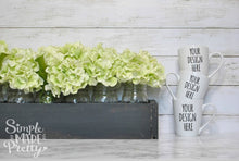 Load image into Gallery viewer, Farmhouse 3 small white mugs green flowers | Mock up phot | your design here | svg mock photo